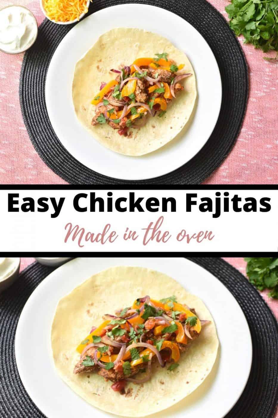 Easy chicken fajitas Pinterest Pin