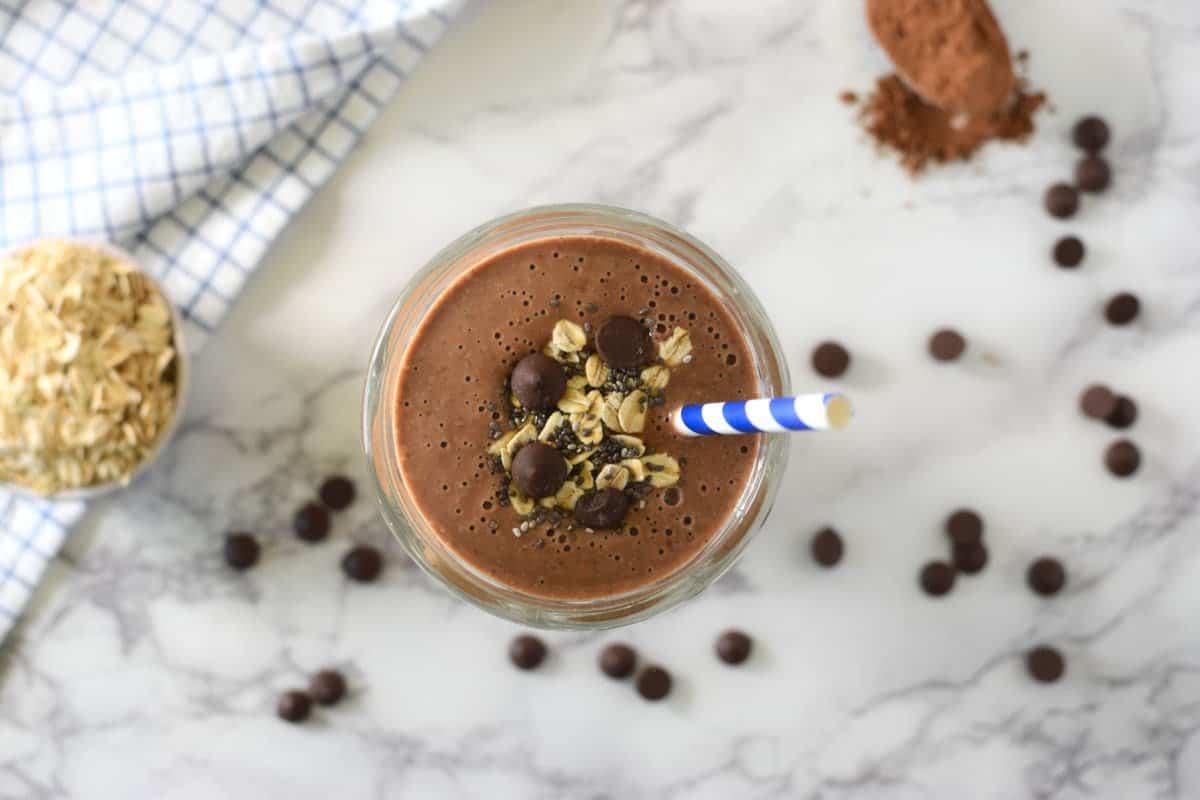 Healthy chocolate shake
