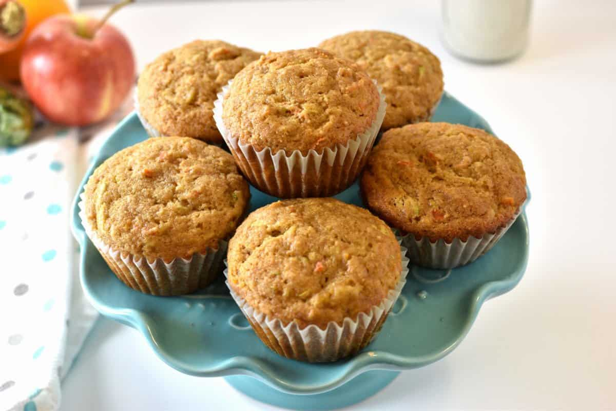 muffins made with veggies and fruits
