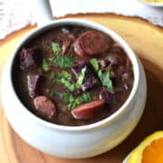 black bean stew with pork meat