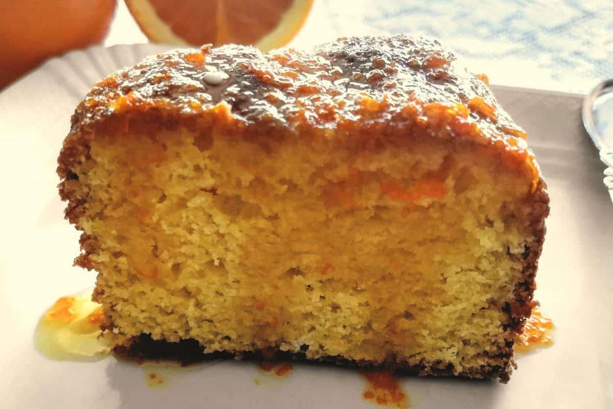 bolo de laranja com casca
