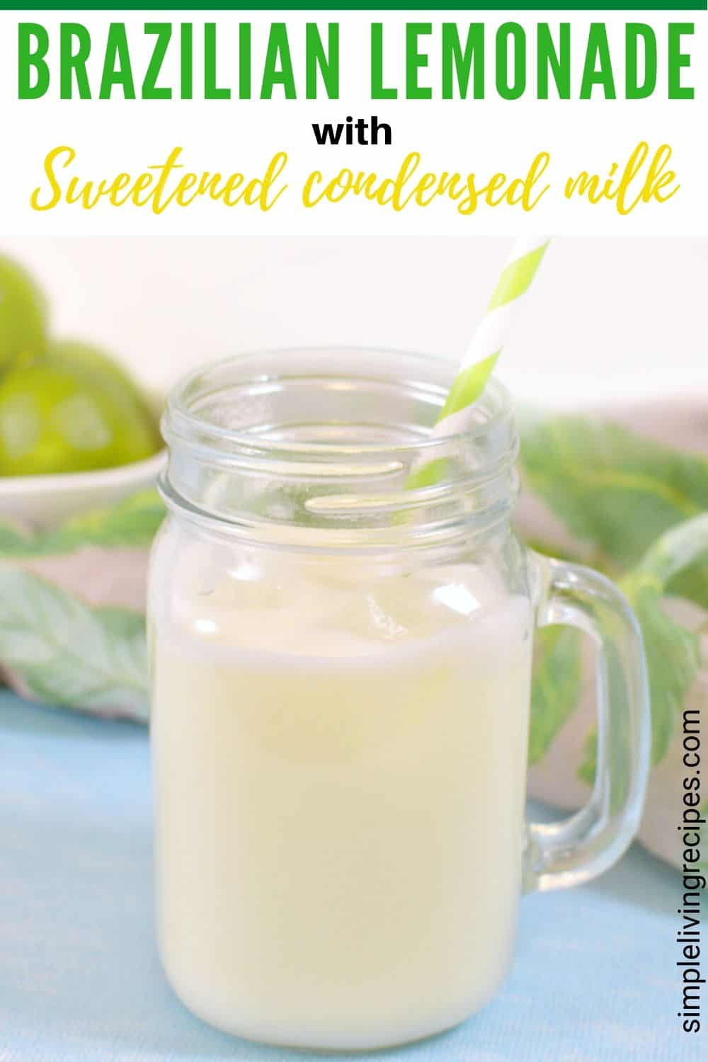 Brazilian Lemonade Pinterest Pin