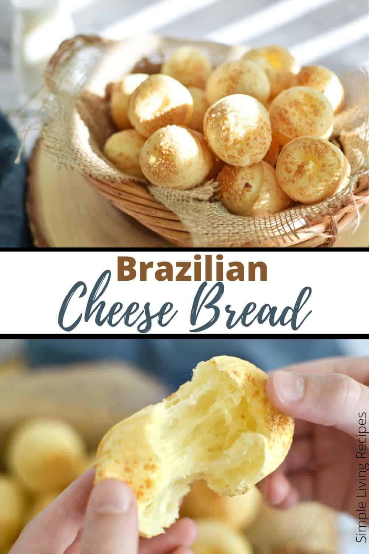 Pão de queijo de liquidificador Pinterest Pin