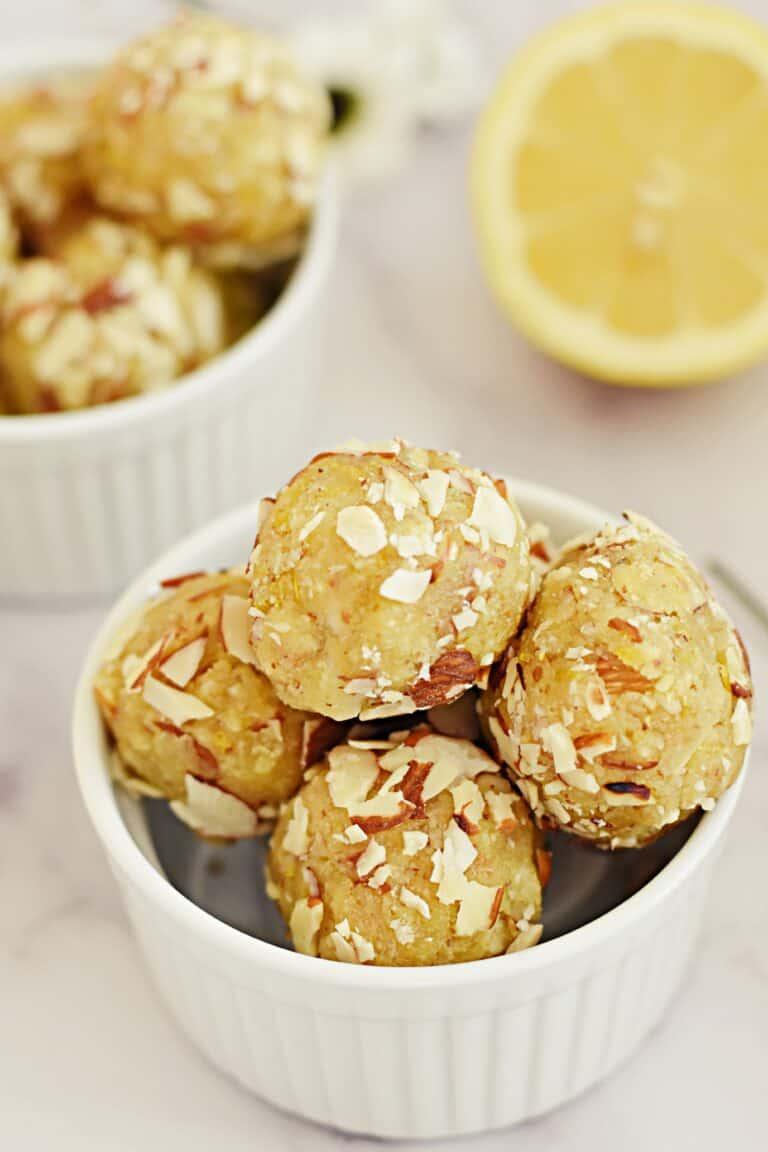 Lemon protein balls