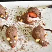 ratinhos de brigadeiro com morango
