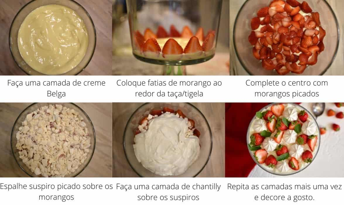 Passo a passo para fazer merengue de morango