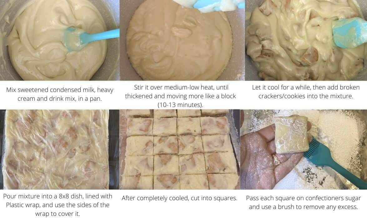 step by step for making fudge with sweetened condensed milk