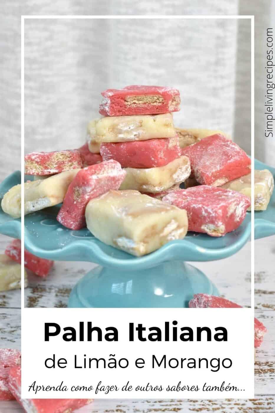 Pinterest Pin de palha italiana de limão e morango