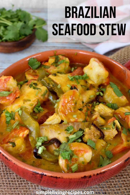 Brazilian Seafood stew photo Pin for Pinterest