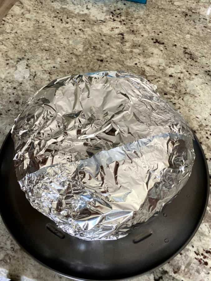 pumpkin covered with aluminum foil
